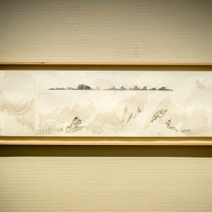 風幕(おとまく)原画 2016/紙、鉛筆/ H44cm×W151.8cm