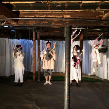 「鹿踊りのはじまり」練習風景です。