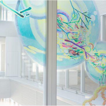 世田谷区玉川新庁舎内コミッションワーク「とどろきにうつりこむ」完成しました